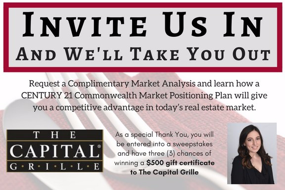 Request a Complimentary Market Analysis and learn how aCENTURY 21 Commonwealth Market Positioning Plan willgive you a competitive advantage in today_s real estate market.